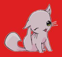 Myu the Candyfloss Cat... scratching! Kids Tee