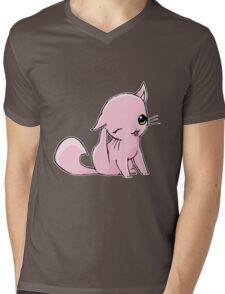 Myu the Candyfloss Cat... scratching! Mens V-Neck T-Shirt