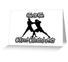 Toe to Toe Mixed Martial Arts Black  Greeting Card