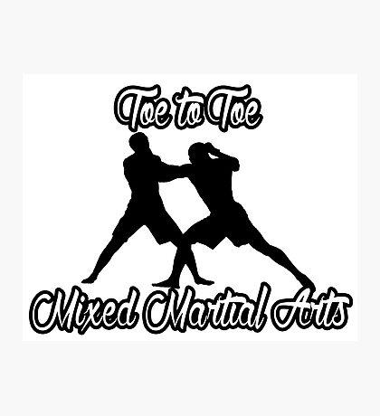 Toe to Toe Mixed Martial Arts Black  Photographic Print