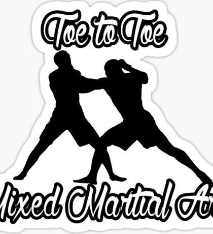 Toe to Toe Mixed Martial Arts Black  Sticker