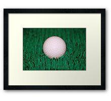 Golfball Framed Print