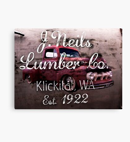 Old Pickup from the Lumber Yard Canvas Print