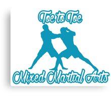 Toe to Toe Mixed Martial Arts Blue Canvas Print