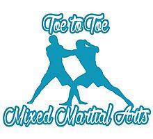 Toe to Toe Mixed Martial Arts Blue Photographic Print