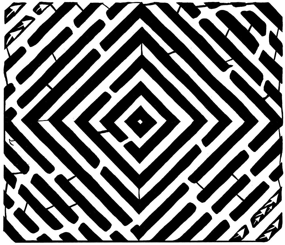 Pulsating Diamond Maze by Yonatan Frimer