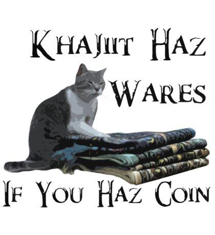 Khajiit Haz Wares - V.2 Sticker