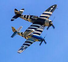 "TP-47D ""Snafu"" & P-51C ""Princess Elizabeth"" by Colin Smedley"