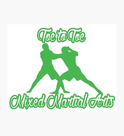 Toe to Toe Mixed Martial Arts Black Green  Photographic Print