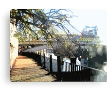 Clear Embankment Canvas Print