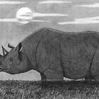 Steadfast - Sophia with Rhinoceros by David Hayward