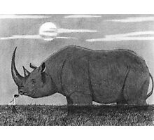 Steadfast - Sophia with Rhinoceros Photographic Print