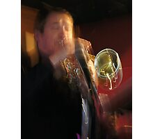 Steve blowing hot notes Photographic Print