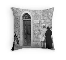Sunday Morning Chat  Throw Pillow