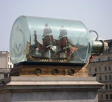 Ship in a Bottle by LadyWendyAnnie