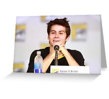 Dylan O'Brien Comic Con Smile Greeting Card
