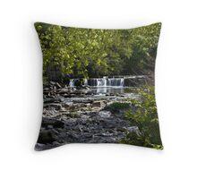 Richmond town - Foss waterfall - River Swale Throw Pillow