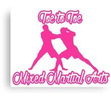Toe to Toe Mixed Martial Arts Pink Canvas Print