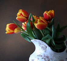 Tulips in Pitcher by Colleen Drew