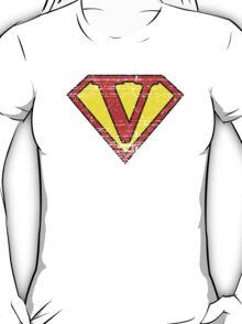 Vintage V Letter T-Shirt