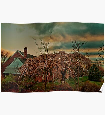 Spring in the Suburb Poster