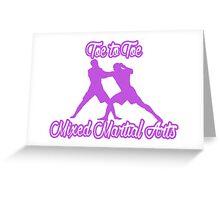 Toe to Toe Mixed Martial Arts Purple  Greeting Card