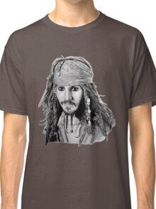 Captain Jack Sparrow (b/w) Classic T-Shirt