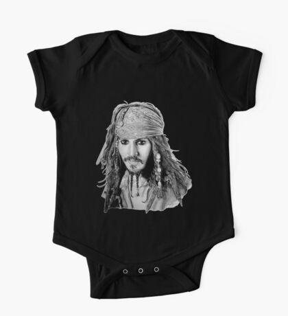 Captain Jack Sparrow (b/w) One Piece - Short Sleeve