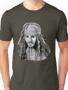 Captain Jack Sparrow (b/w) Unisex T-Shirt