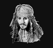 Captain Jack Sparrow (b/w) Unisex T-Shirt