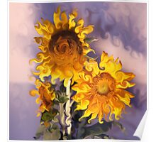 Sunflowers Arranged Poster