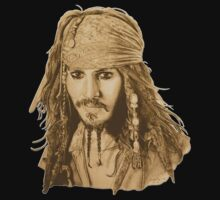 Captain Jack Sparrow (sepia) by MissCake