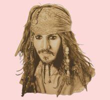 Captain Jack Sparrow (sepia) Kids Tee