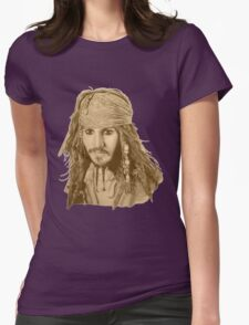 Captain Jack Sparrow (sepia) Womens Fitted T-Shirt