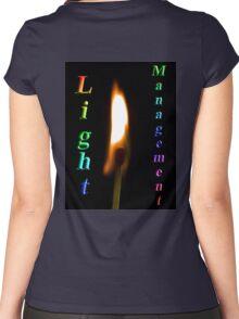 Light Management Women's Fitted Scoop T-Shirt