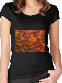 Autumn tones of a Japanese Maple #2 Women's Fitted Scoop T-Shirt