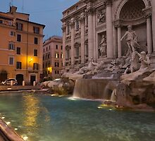 Rome's Fabulous Fountains - Trevi Fountain at Dawn by Georgia Mizuleva