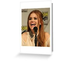 Holland Roden Comic Con Smile Greeting Card