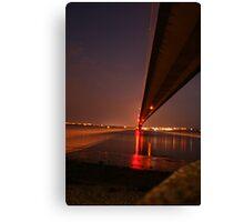 Humber Bridge at night Canvas Print