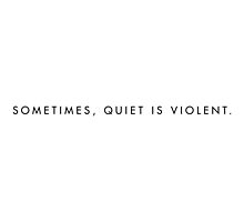 "twenty øne piløts - ""sometimes, quiet is violent"" minimalist typography (white) by unblurryface"