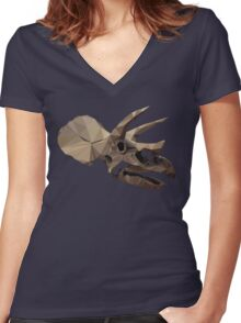 Polygon Triceratops Women's Fitted V-Neck T-Shirt