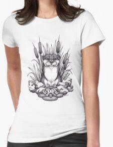Otter & Aquatic Plants Womens Fitted T-Shirt