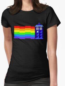 nyan tardis Womens Fitted T-Shirt