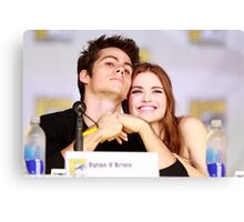 Dylan O'Brien and Hollan Roden Comic Con Canvas Print