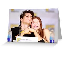 Dylan O'Brien and Hollan Roden Comic Con Greeting Card