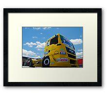 Race Truck Framed Print
