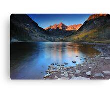 Sunrise at Maroon Lake Canvas Print