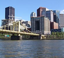 Pittsburgh Skyline - Pittsburgh, PA by searchlight