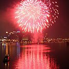 Fourth of July Fireworks Reflection - Pittsburgh, PA by searchlight
