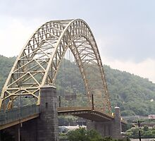 West End Bridge - Pittsburgh, PA by searchlight